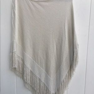 Whitehouse black market beige ponchos sweater
